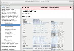 Devhelp using WebKit2