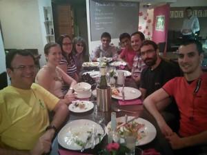 Evince hackfest dinner