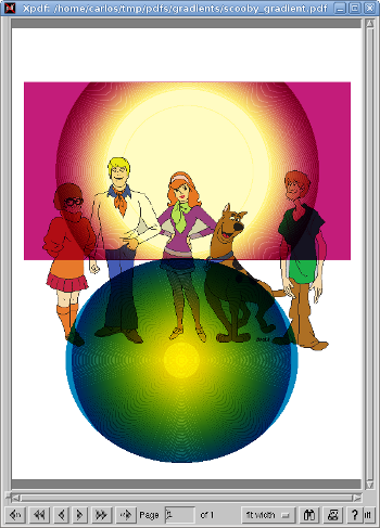 Scooby gradient rendered by xpdf