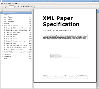 XPS Specification in Evince