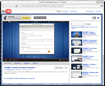 MiniBrowser showing a youtube video