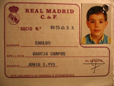 Real Madrid membership card