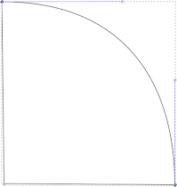 Bézier curve approximation to a circle quadrant
