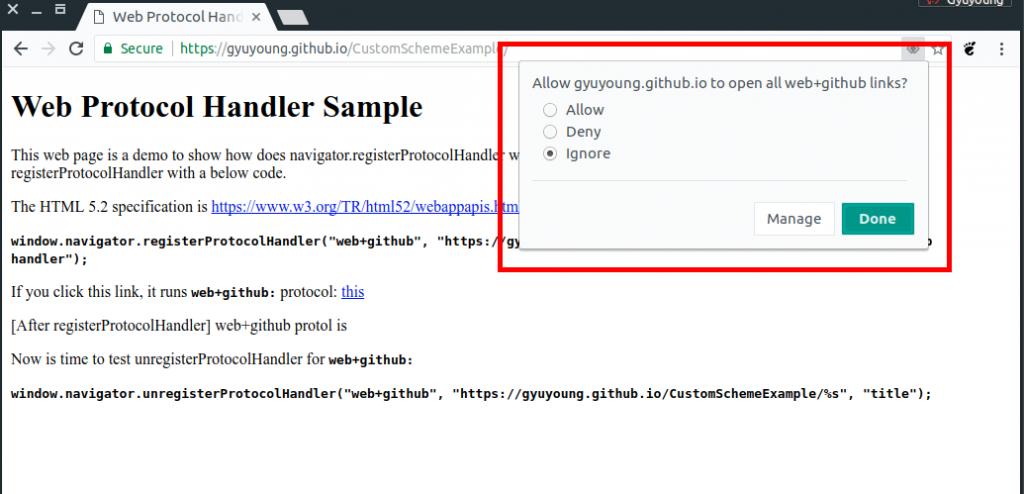 What is navigator registerProtocolHandler? | Gyuyoung Weblog