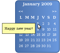 JS calendar screenshot