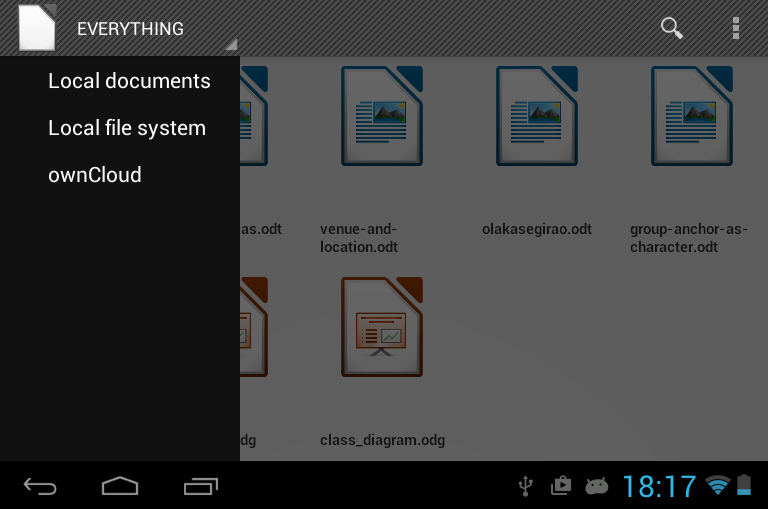 New features in LibreOffice for Android document browser