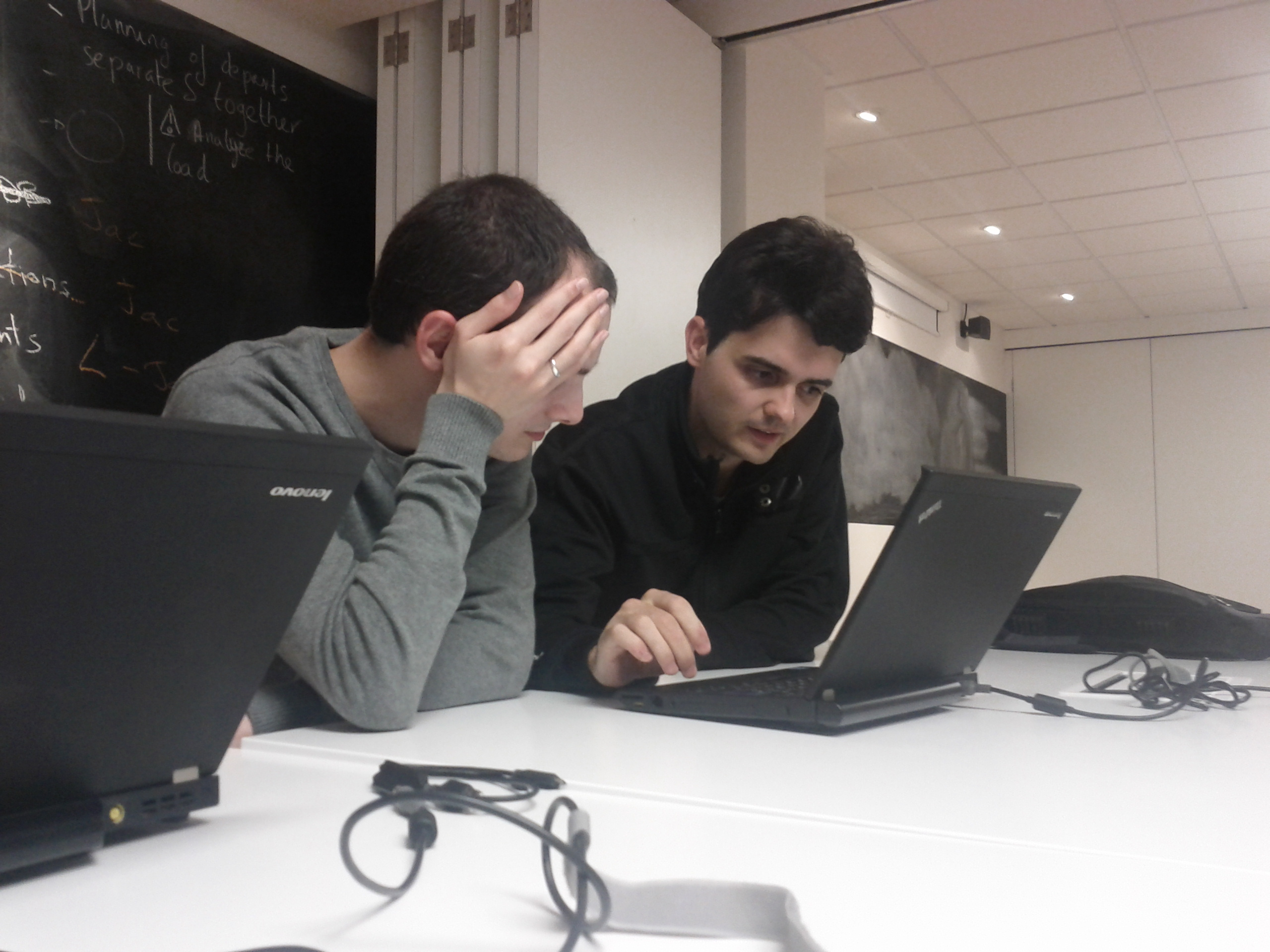 Jacobo and Óscar at LibrePlan hackfest