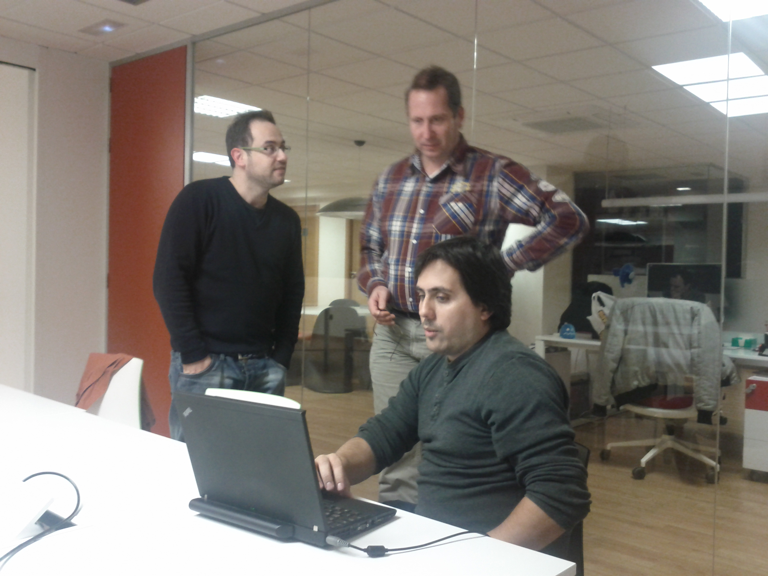 Javi, Jeroen and Loren at LibrePlan hackfest
