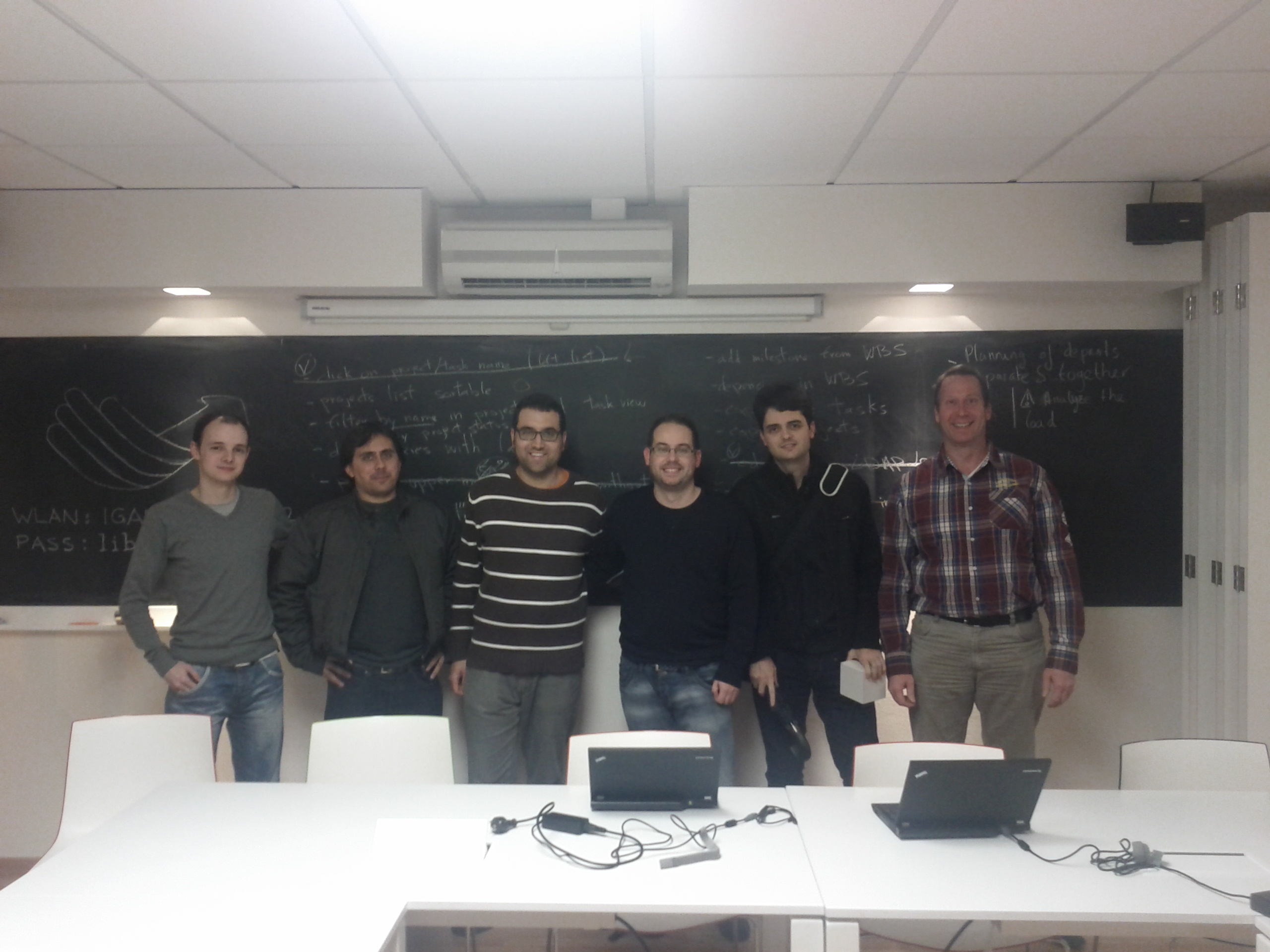Group picture of LibrePlan hackfest