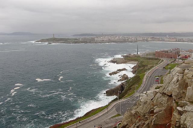 A Coruña from San Pedro (picture by Adrián Pérez)