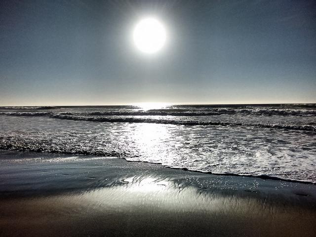 Sun and waves at Ocean Beach