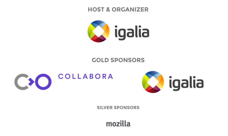 Web Engines Hackfest 2016 sponsors: Collabora, Igalia and Mozilla