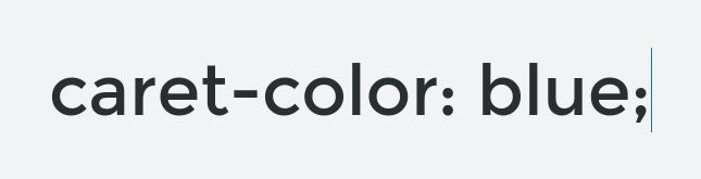 caret-color example