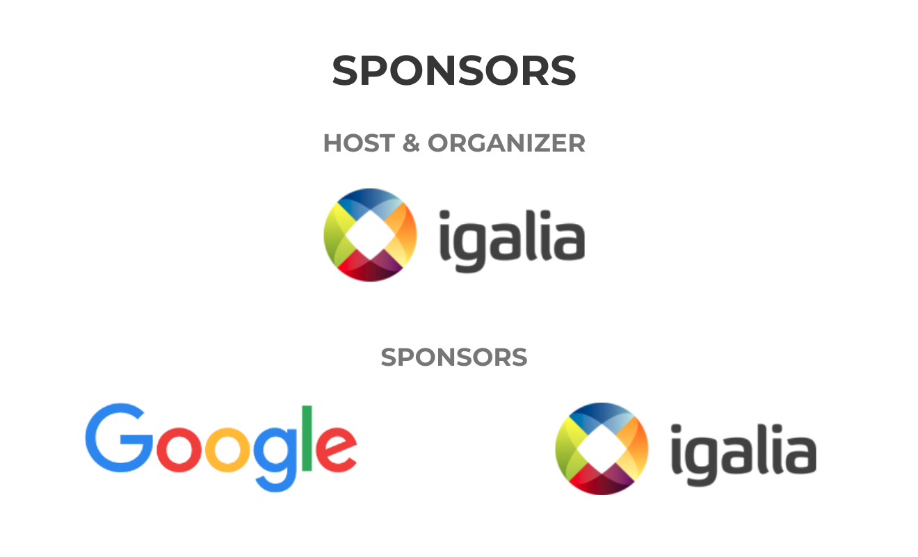 Web Engines Hackfest 2018 sponsors: Google and Igalia
