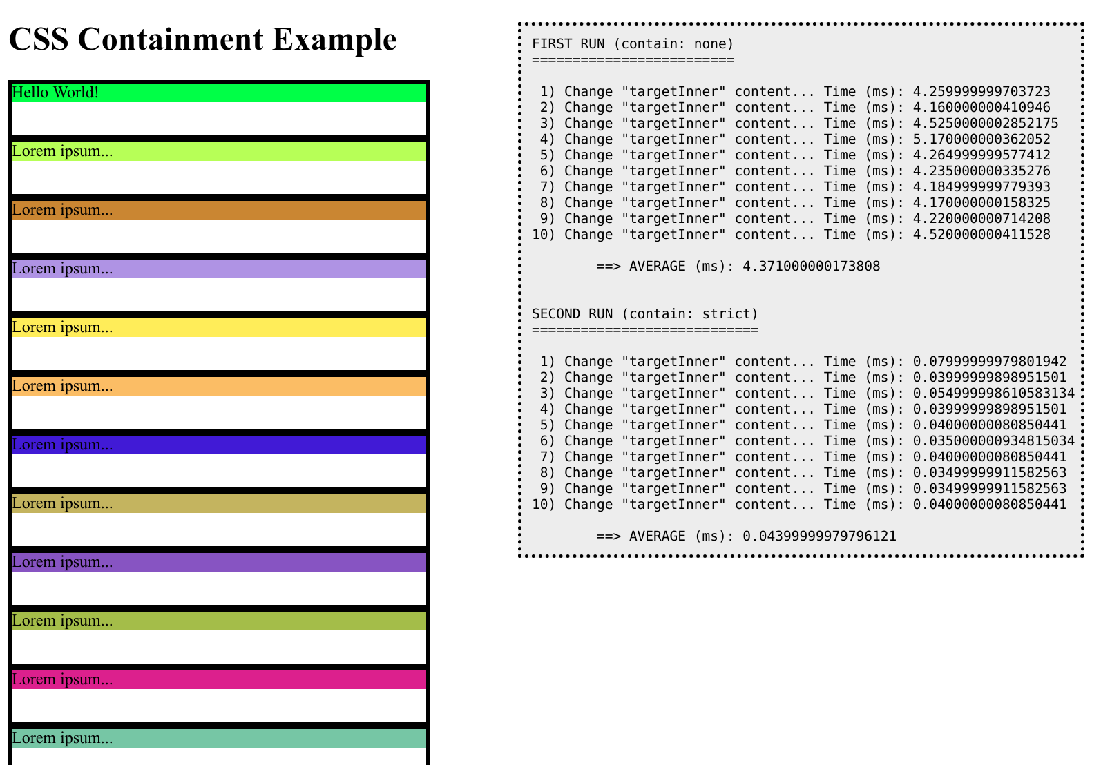 CSS Containment Example