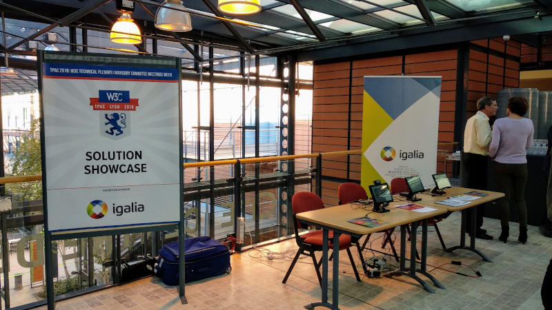 Igalia booth at TPAC 2018