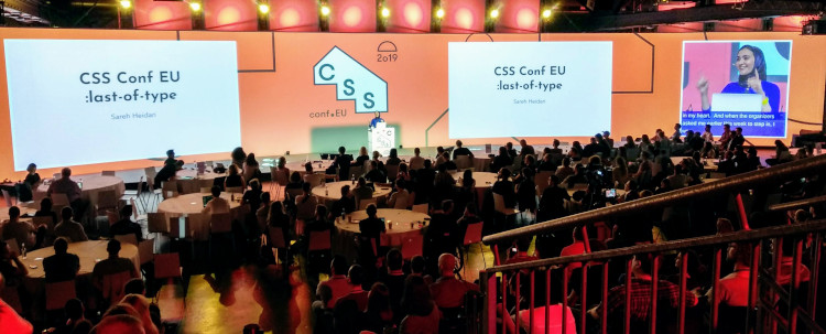 CSSconf EU 2019 stage