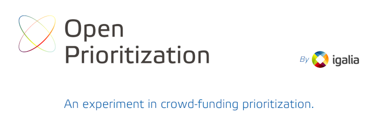 Open Prioritization by Igalia. An experiment in crowd-funding prioritization.