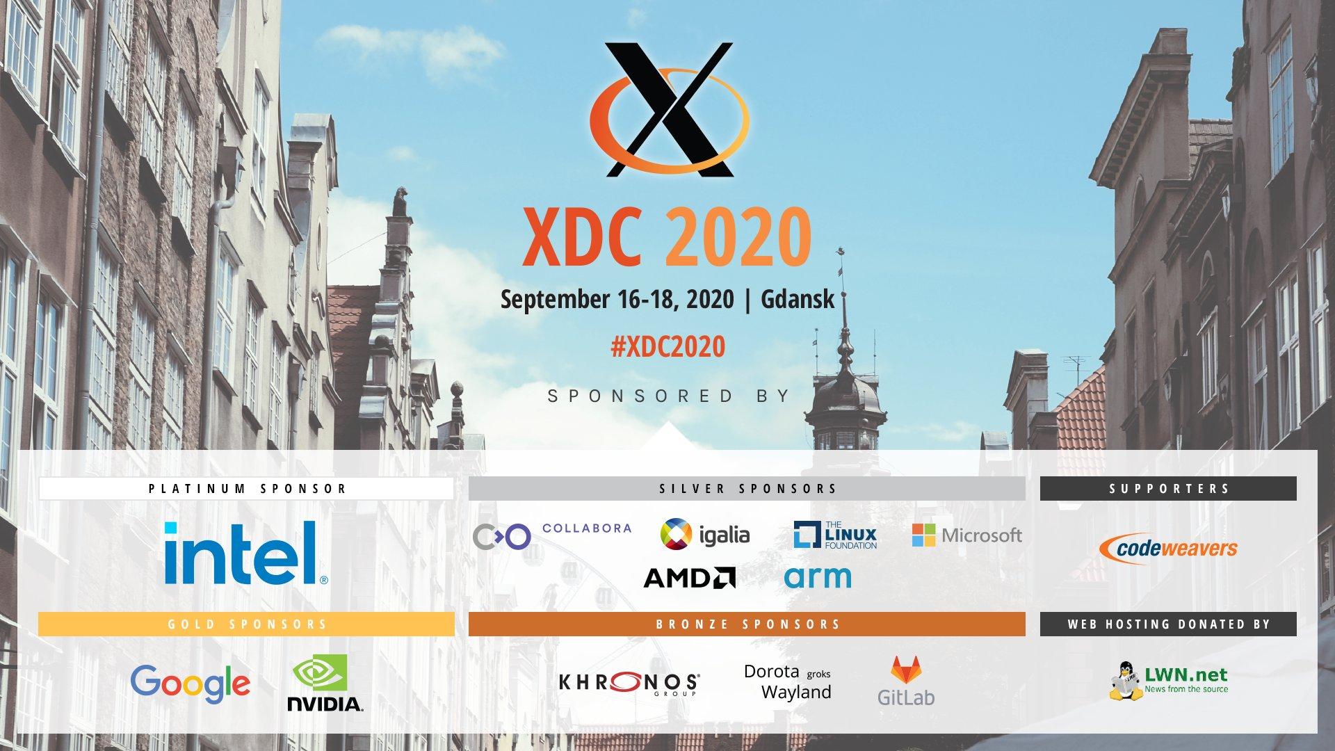 XDC 2020 sponsors