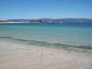 Aguieira beach in Galicia